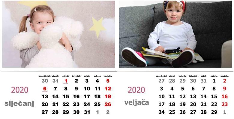 Zidni kalendar s vašim fotografijama po izboru za 79 kn!