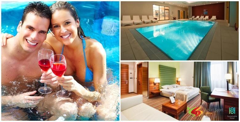 POPUST: 61% - HOTEL SPORT 4* Wellness opuštanje za dvoje! 1 ili 2 noćenja s polupansionom uz korištenje sauna, bazena, jacuzzija, fitnessa te piće dobrodošlice od 359 kn! (Hotel Sport 4*)