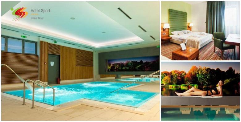Wellness u Hotelu Sport 4* - 1 ili više noćenja s doručkom za 2 osobe uz korištenje sauna, bazena i relax zone te aromamasaže u paru, piće dobrodošlice i kolač kuće od 389 kn!