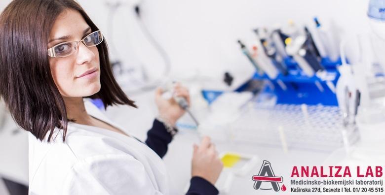 Otkrijte tumor na vrijeme - napravite tumorski marker za žene ili muškarce u Poliklinici Analiza Lab bez najave uz nalaze gotove isti dan za 105 kn!