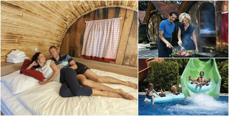 [GLAMPING VINSKE BAČVE] 2 noćenja s polupansionom za dvoje uz kupanje i korištenje sauna u Termama Ptuj + Amor kupka i pjenušac za 910 kn!
