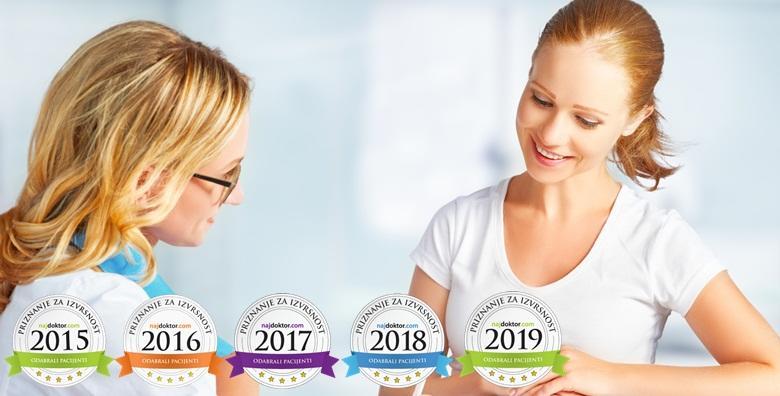 Ordinacija Belak - kompletan ginekološki kod doktorice s titulom NAJDOKTOR za 2015., 2016., 2017. 2018. i 2019. godinu prema izboru pacijentica!