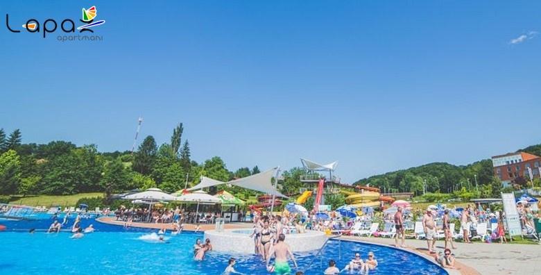 POPUST: 35% - Vikend uživancija na bazenima! 2 noćenja s doručkom za dvoje u apartmanima Lapaž 4* s doručkom, kupanjem u termama i masažom za 1.199 kn! (Apartmani Lapaž****)