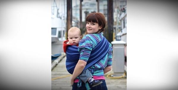 Sling marama za bebe u crvenoj ili zelenoj boji