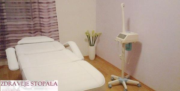 Medicinska vježba posture i parcijalna masaža leđa ili nogu