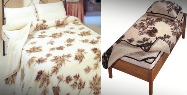 Merino vuna - poplun i jastuci za 1 osobu ili bračni krevet