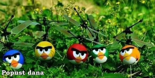 Angry birds helikopter uz uključenu dostavu