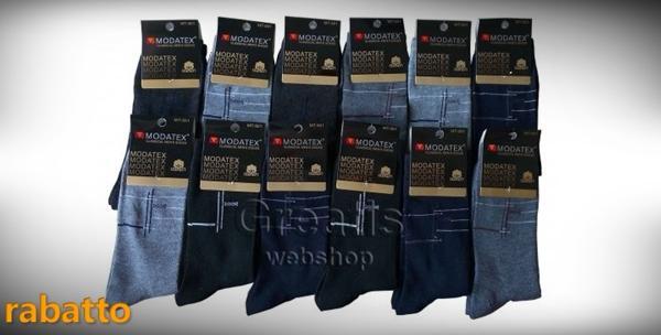 Muške čarape - 12 pari, 80% pamuk