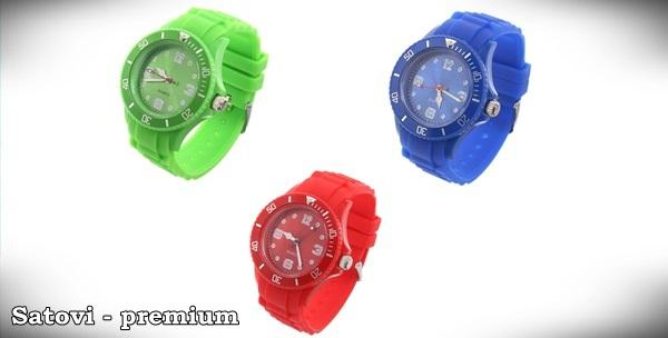 3 silikonska sata - unisex satovi u raznim bojama s dostavom