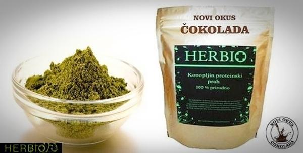 Proteini konoplje s okusom čokolade - 1kg, hrvatski proizvod