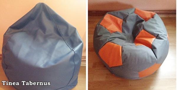 Fotelja u oblike suze ili lopte od eko kože
