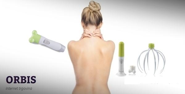 Set za masažu s nastavkom za tjeme - kućno opuštanje
