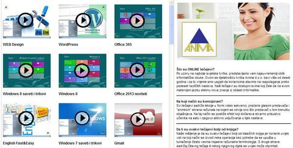 Online multimedijalni tečajevi po izboru