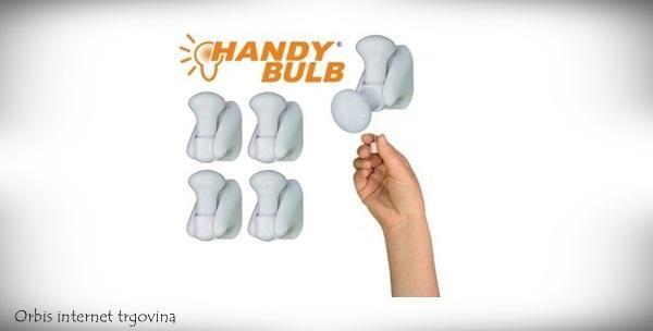 Prijenosna svjetiljka Handy Bulb uz uključene baterije