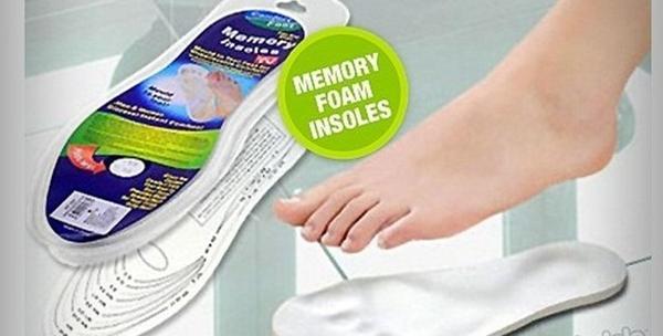 Ulošci od memorijske pjene, 2 para za bolne noge