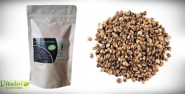 BIO oljuštene sjemenke konoplje