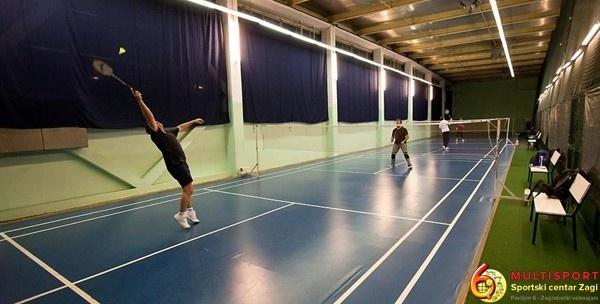 Badminton - 5 termina subotom u trajanju 60 minuta