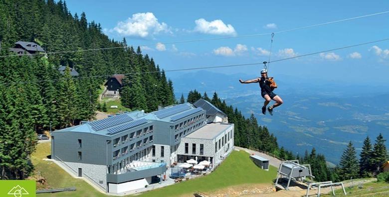 POPUST: 47% - HOTEL GOLTE 4* Ljetni odmor pod oblacima! 3 noćenja s polupansionom za dvoje uz zipline, wellness, fitness i ulaz u Alpski vrt za 1.530 kn! (Hotel Golte****)