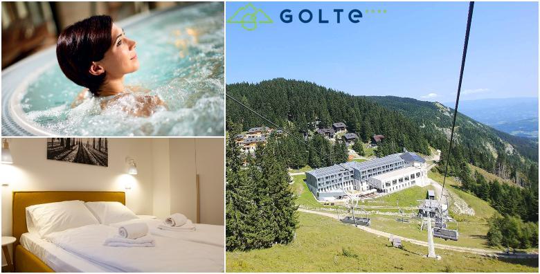 POPUST: 47% - HOTEL GOLTE 4* 3 noćenja s polupansionom za dvoje i uživanje u jacuzziju, saunama, ambijentalnim tuševima i ledenom gejziru za 1.530 kn! (Hotel Golte 4*)