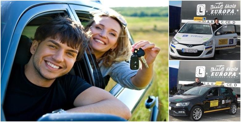 Ponuda dana: AUTOŠKOLA - najniža cijena! Ekskluzivna ponuda za osposobljavanje za vozača B kategorije uz 35 sati vožnje i 30 sati predavanja po super cijeni za 4.780 kn! (Autoškola Europa)