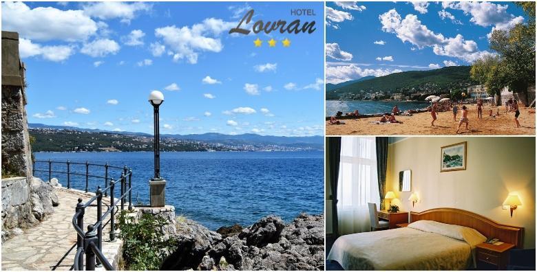 POPUST: 31% - Hotel Lovran 3* na samom šetalištu Lungomare! 2 noćenja s polupansionom za dvoje tek 50 metara od prekrasne plaže za 999 kn! (Hotel Lovran 3*)