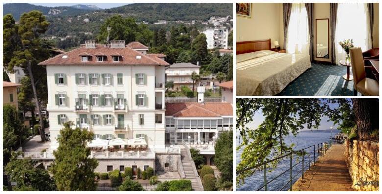 Hotel Lovran 3* na samom šetalištu Lungomare - 1 ili 2 noćenja s doručkom za 2 odraslih i 2 djece do 12 godina tek 50 metara od prekrasne plaže od 449 kn!