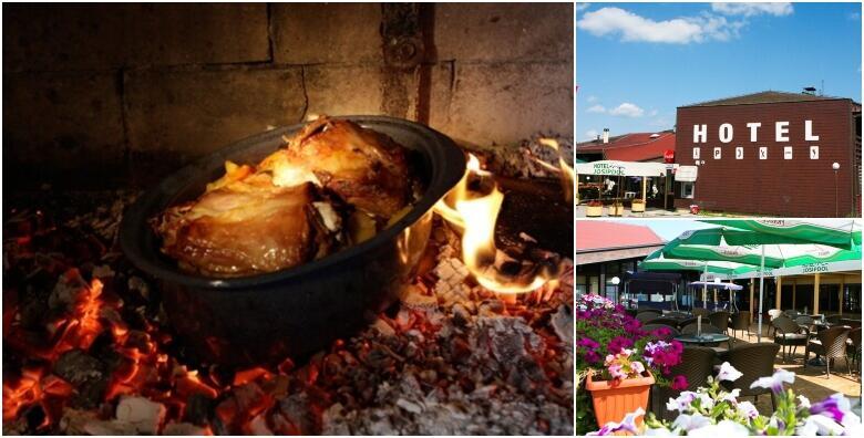 JANJETINA S DOMAĆIM KRUMPIROM ISPOD PEKE - tradicionalne delicije u 3 slijeda za dvoje: domaća juha, luk, rajčica, domaći kruh i desert dana za samo 179 kn!