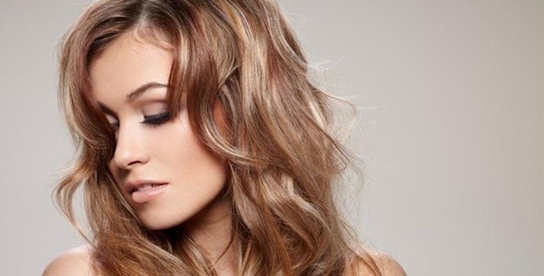 Bojanje ili preljev uz šišanje i frizuru