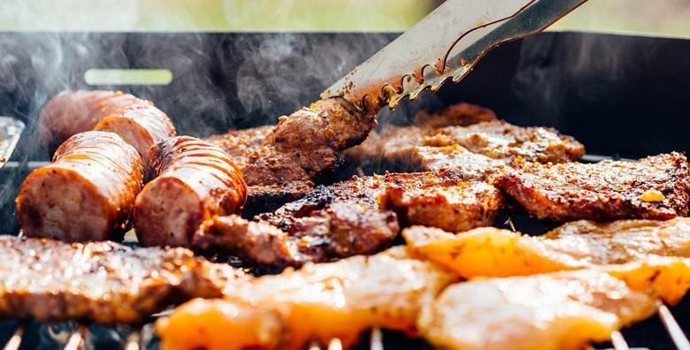 Roštilj mesna plata na drveni ugljen za dvije osobe