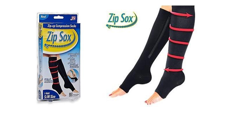 Kompresijske čarape sa zatvaračem