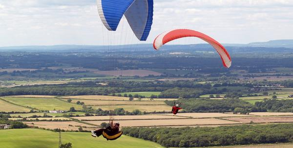 Paragliding let sa instruktorom
