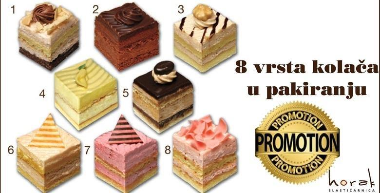 8 kremastih kolača iz Slastičarnice Horak – neodoljivi okusi čokolade, vanilije, lješnjaka, kave, badema i voća za samo 39 kn!