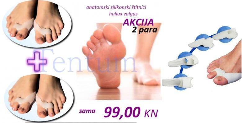 4 anatomska silikonska štitnika za nožne palčeve