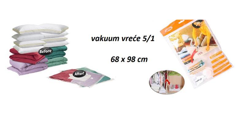 5 vakuum vreća za pospremanje stvari