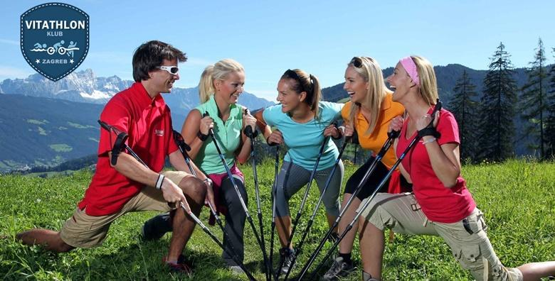 POPUST: 38% - Nordijsko mršavljenje N15 - mjesec dana treninga nordijskog hodanja s kojima ćete transformirati cijelo tijelo za 499 kn! (Vitathlon društvo za sportsku rekreaciju)