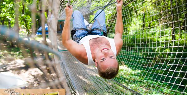 Adrenalinski park - roping uz opremu za 90kn