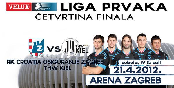 Liga prvaka - RK  Zagreb - Kiel