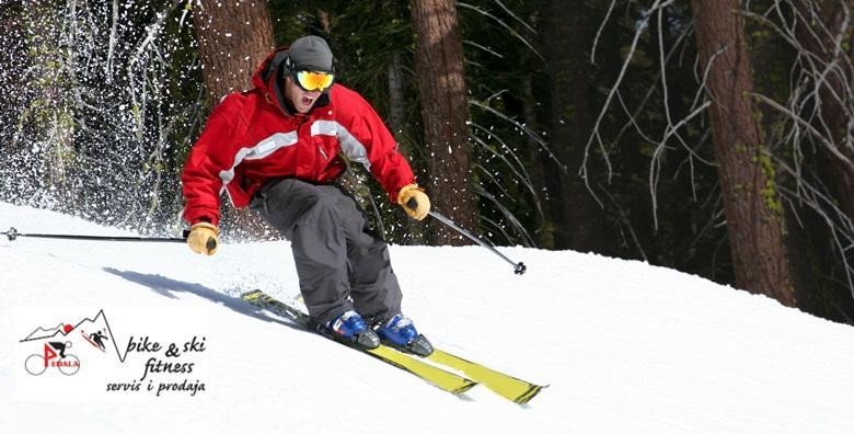 Veliki servis skija -  brušenje skija, vosak i provjera veza