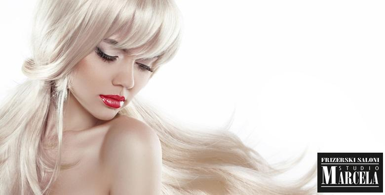 Pramenovi po izboru ili bojanje uz preljev, šišanje, frizuru