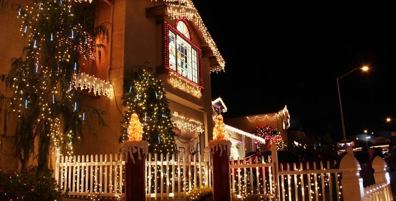 Ukrasne božićne LED ili riža lampice u obliku crijeva