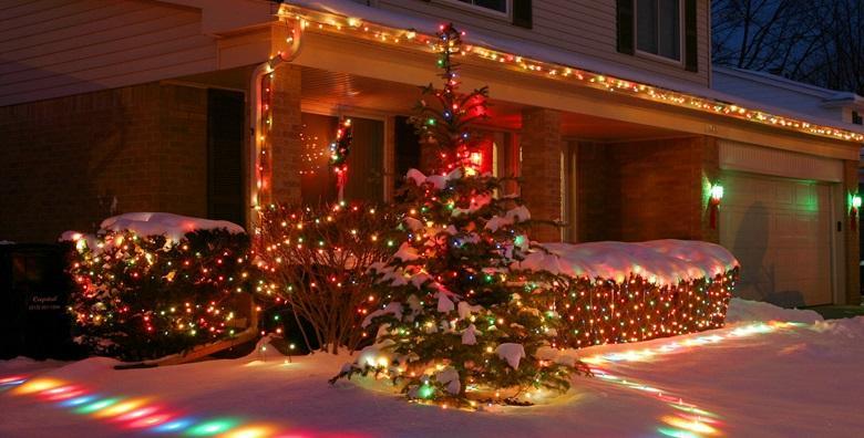 Božićne lampice u raznim bojama