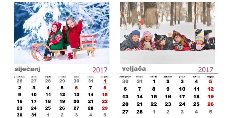 Zidni kalendar s vašim fotografijama po izboru