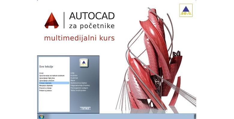 AutoCAD-početni, napredni ili 3D online tečaj uz video upute