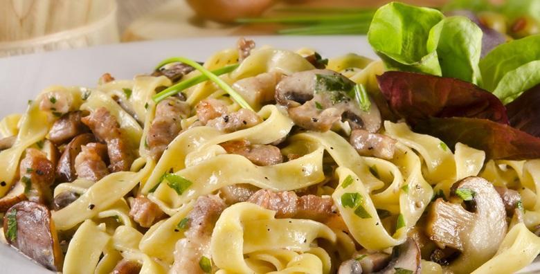 2 porcije tjestenine fantastičnog okusa s umakom po izboru