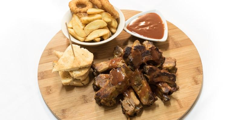 BBQ rebarca i domaći, mladi krumpir za dvoje