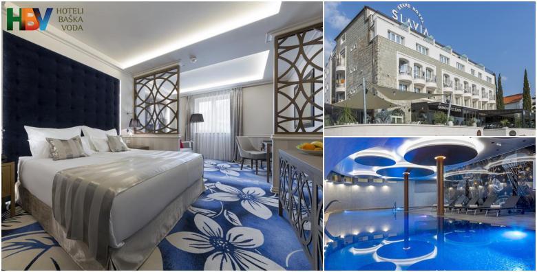 Baška Voda - savršen odmor Grand Hotelu Slavia 4*! 1 ili 2 noćenja s polupansionom u luksuznim sobama uz korištenje bazena, fitnessa i sauna već od 709 kn!