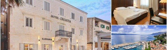 BAŠKA VODA - zasluženo uživajte uz 2 noćenja s doručkom za dvoje + gratis smještaj za 1 dijete do 2,99 godina u economy sobi u Hotelu Croatia 4* na samoj rivi za 1.238 kn!