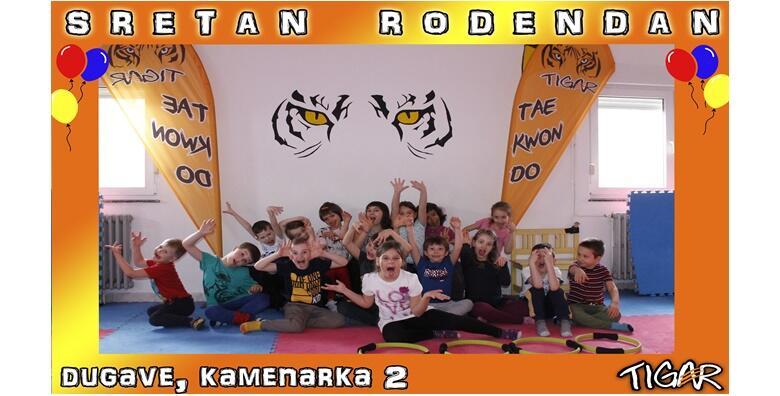 DJEČJI SPORTSKI ROĐENDAN - razveselite mališane sa 2 h zabave uz sportske aktivnosti i natjecanje u raznim disciplinama uz animatore u Taekwondo klubu Tigar za 750 kn!