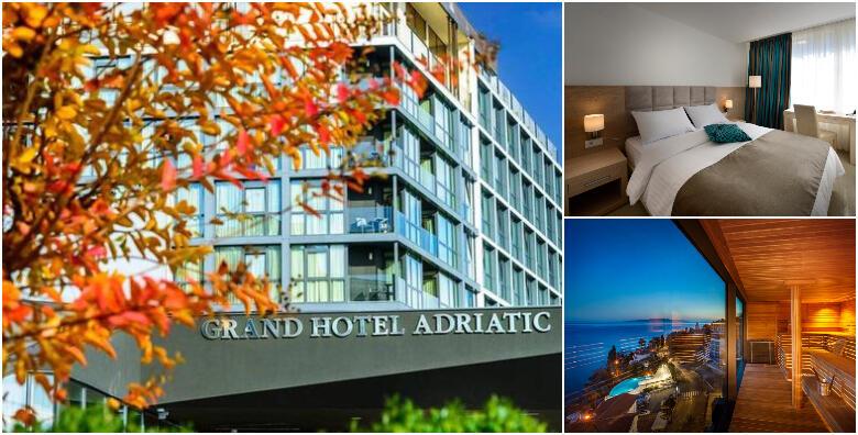 Opatija - 2 noćenja s polupansionom za dvoje u standard ili superior sobi s pogledom na more u Grand Hotelu Adriatic 3/4* uz korištenje bazena i spa zone od 1.409 kn!