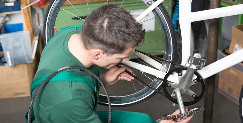 Servis bicikla - pregled s dijagnostikom, podešavanje kočnica i mjenjača, dotezanje žica, pumpanje guma i podmazivanje lanca za samo 85 kn!